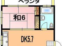 【石川氏アパート 202】1DK★公園近く★静かな住宅街です♪ 2階 間取り図